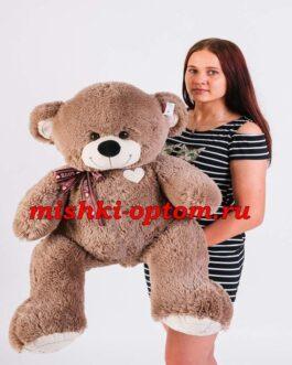 Мишка i love you 110 см Кофейный