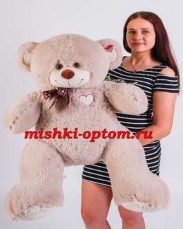 Мишка i love you 110 см Дымчатый