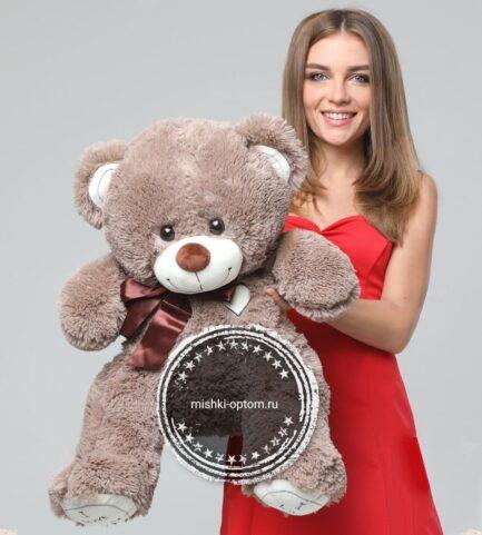 Мишка i love you 90 см Кофейный
