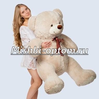 Мишка i love you 150 см Дымчатый