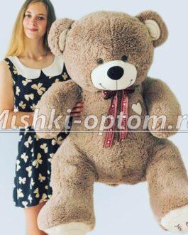 Мишка i love you 160 см Кофейный