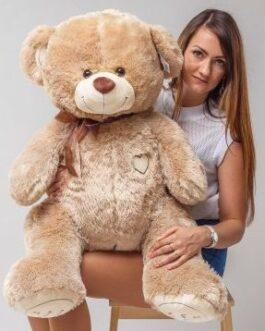 Мишка i love you 120 см Светло-Коричневый Оригинал