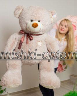 Мишка i love you 160 см Дымчатый