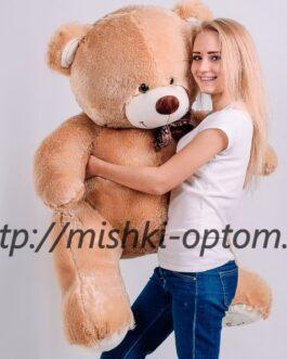 Мишка i love you 150 см Песочный