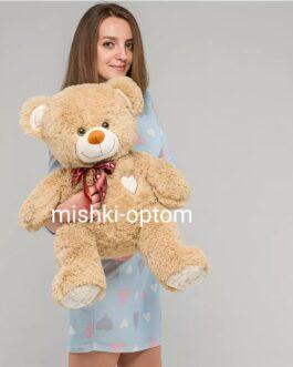 Мишка i love you 90 см Песочный