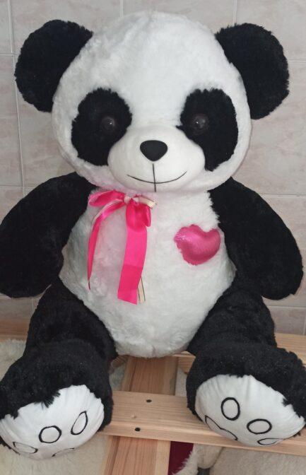 Панда с сердцем 100 см