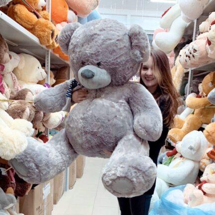 Мишка Тедди с шарфиком 140 см
