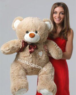 Мишка i love you 120 см Песочный