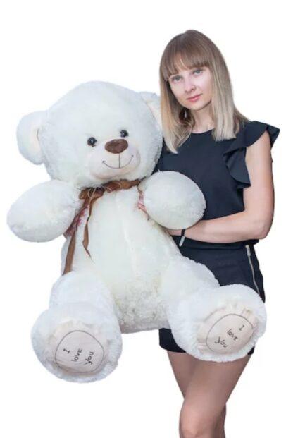 Мишка i love you 130 см Белый