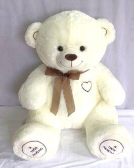 Мишка «Я люблю тебя» 105 см Белый