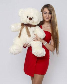 Мишка i love you 90 см Молочный Оригинал